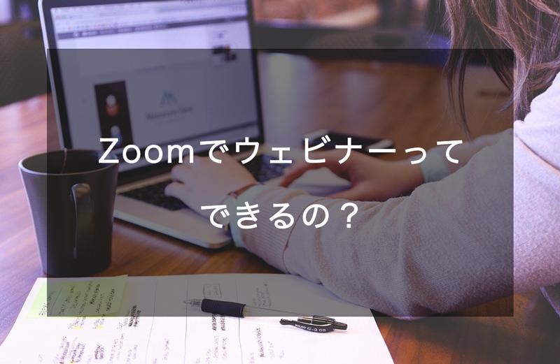 zoomでウェビナー